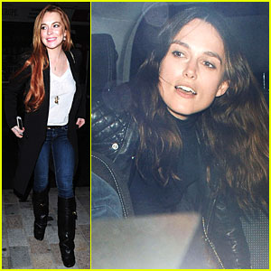 Lindsay Lohan & Keira Knightley Heat Up Chiltern Firehouse!