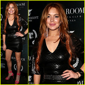 Lindsay Lohan Rocks a Sexy Short Dress for a Party in Cannes
