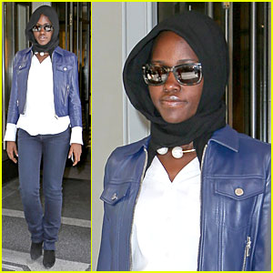 Lupita Nyong'o Covers Up After Going Green at Met Ball 2014!