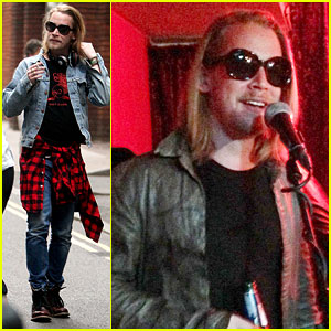 Macaulay Culkin Leaves His Ryan Gosling Shirt at Home for His Band's Performance
