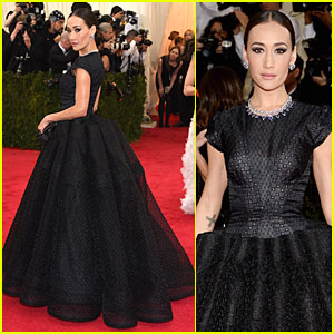 Maggie Q Looks Super Classy in Black at Met Ball 2014