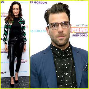 Maggie Q & Zachary Quinto Check Out 'Supermensch' Premiere