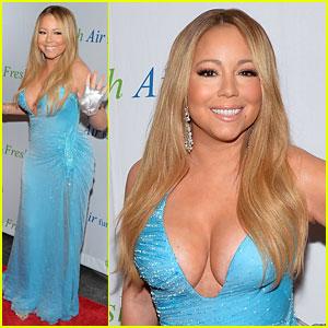Mariah Carey Flaunts Major Cleavage at Fresh Air Fund Gala
