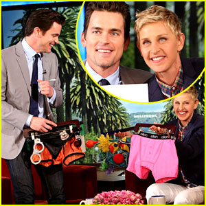 Matt Bomer Is Gifted with 'Magic Mike 2' Costumes from Ellen!