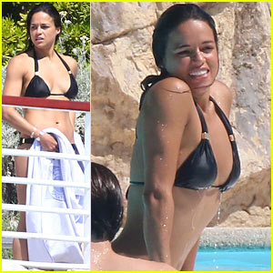 Michelle Rodriguez Displays Her Fit & Toned Bikini Body During Cannes Day Off!