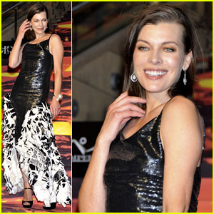 Milla Jovovich Supports Hubby Paul W.S. Anderson at 'Pompeii' Premiere in Tokyo!