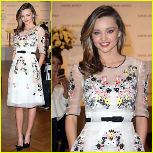 Miranda Kerr Makes a Floral Entrance at Kora Organic Media Call!