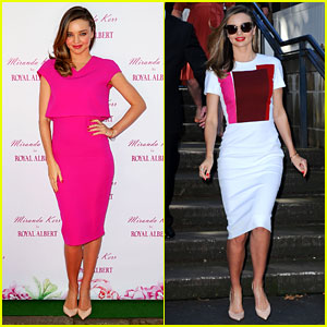 Miranda Kerr Glams Up to Promote Her New Teaware Collection