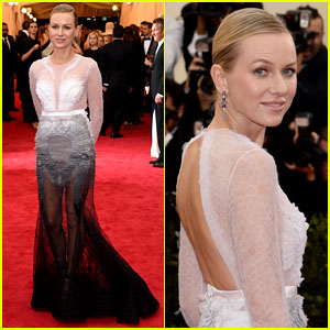 Naomi Watts Flies Solo for Met Ball 2014 Red Carpet