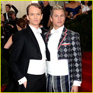 Neil Patrick Harris & David Burtka Wear Crop Top Tuxedos to Met Ball 2014!