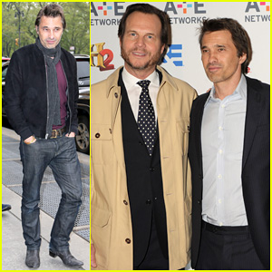 Olivier Martinez Steps Out in New York for A&E Upfronts!