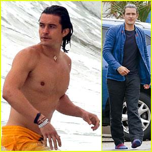 Orlando Bloom is Shirtless Sexy & Soakin' Wet in Malibu - See the Pics!