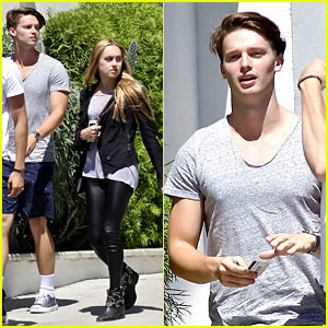 Patrick Schwarzenegger Lunches in Malibu with Girlfriend Tootsie Burns!