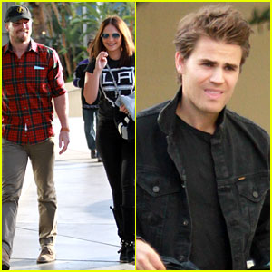 Paul Wesley & Stephen Amell: CW Stars Attend Kings Game!