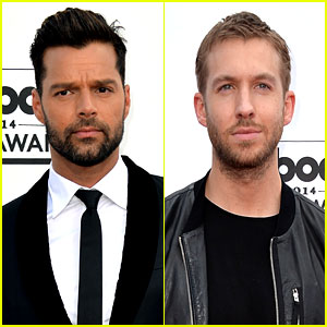 Ricky Martin & Calvin Harris Look Super Suave at Billboard Music Awards 2014