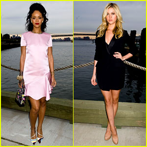 Rihanna & Nicola Peltz Rock Short Dresses at Dior Show!