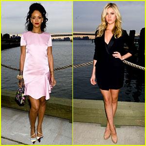 Rihanna & Nicola Peltz Rock Short Dresses at Dior Show!