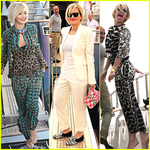 Rita Ora Wears Snakeskin-Inspired Outfit at Cannes 2014