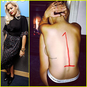 Rita Ora Shows Off Side Boob While Celebrating No. 1 U.K. Single with Topless Photo!
