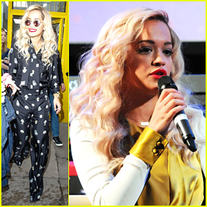 Rita Ora Updates Passport Before Scotland Performance