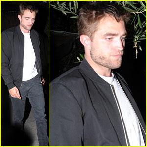 Robert Pattinson Dines at Little Door with Mystery Woman