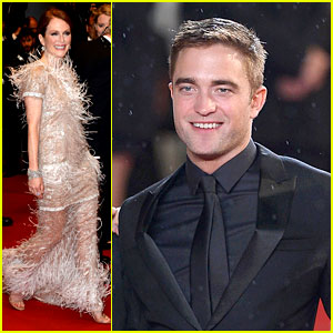 Robert Pattinson Gets Rained on at 'Maps to the Stars' Cannes Premiere