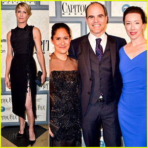 Robin Wright & 'House of Cards' Cast Meet the Real Politicians!