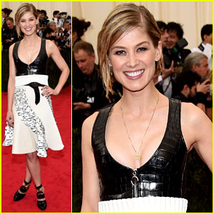Gone Girl's Rosamund Pike is Louis Vuitton Lovely on Met Ball 2014 Red Carpet