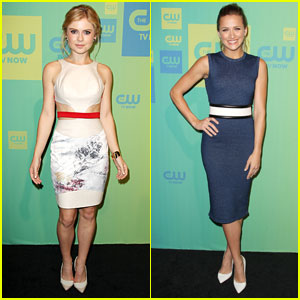 Rose McIver & Shantel VanSanten Present 'iZombie' & 'The Messengers' at CW Upfronts 2014!