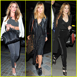 Rosie Huntington-Whiteley & Suki Waterhouse Make It a Model Moment at Chiltern Firehouse