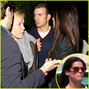 Sandra Bullock, Chris Evans, & Chelsea Handler Have Dinner Together - See the Pics!
