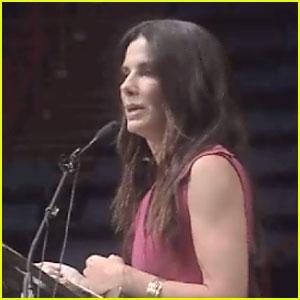 Sandra Bullock Inspires High School Graduates in Surprise Commencement Speech - Watch Now!