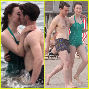 Saoirse Ronan & Emory Cohen Share Ocean Kiss While Filming 'Brooklyn' in Coney Island!