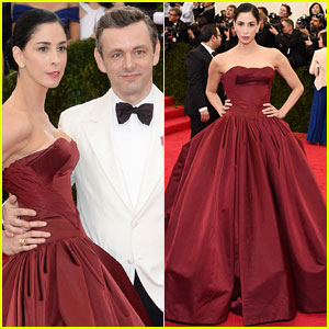 Sarah Silverman & Michael Sheen Make First Red Carpet Apperance Together at Met Ball 2014!