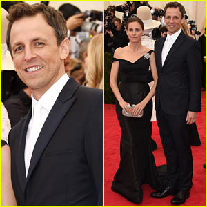 Seth Meyers Brings Along Wife Alexi Ashe to Met Ball 2014