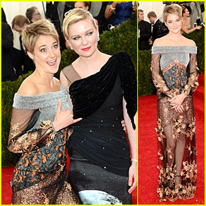 Shailene Woodley Gets Really Animated at Met Ball 2014!