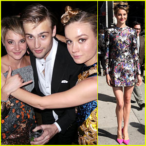 Shailene Woodley Hangs with Douglas Booth & Brie Larson at Met Ball 2014 After Party (Exclusive Pic!)