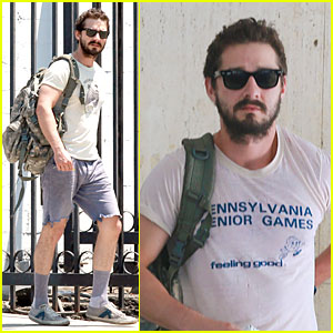 Shia LaBeouf Wears the Same Outfit to the Gym & Meeting!