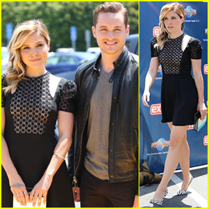Sophia Bush Handcuffs Mario Lopez During 'Extra' Interview!