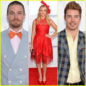 Stephen Amell & Josh Henderson Are All About Colorful Patterns at the Kentucky Derby!