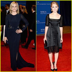 Taylor Schilling & AnnaSophia Robb Are Blond Bombshells at White House Correspondents' Dinner 2014!
