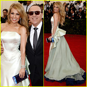 Thalia & Tommy Mottola Flash Big Smiles at Met Ball 2014!