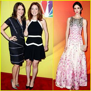 Tina Fey & Ellie Kemper Team Up at NBC Upfronts 2014!