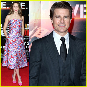 Tom Cruise & Emily Blunt Get Dressed in Style to Premiere 'Edge of Tomorrow' in London!