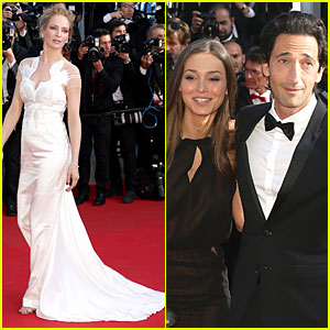 Uma Thurman & Adrien Brody Dress Up For Cannes Closing Ceremony!