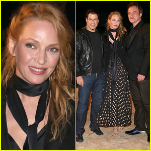 John Travolta, Uma Thurman & Quentin Tarantino Reunite for 'Pulp Fiction' Screening!