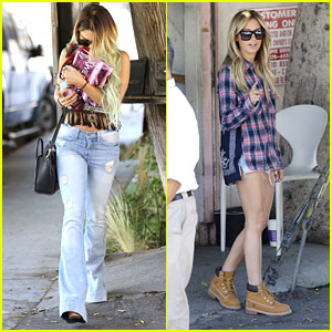 Vanessa Hudgens & Ashley Tisdale Kick Off Weekend With Salon Date