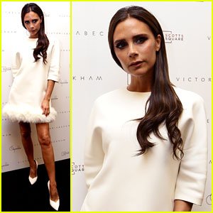 Victoria Beckham Goes White Hot at On Pedder in Singapore