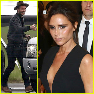 Victoria & David Beckham Spend Time on Separate Continents