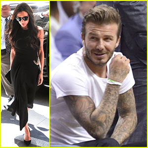 Victoria Beckham Shows Fashion Sense in NYC, David Flashes Tattooed Arms in Miami!